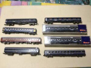 8 Wagen :Roco , Lima, , Minitrix, Fleischmann TEN Schlafwagen, Gebraucht.,