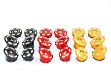 Ducati Monster 1200/821 Frame Plugs - Red/Black/Gold