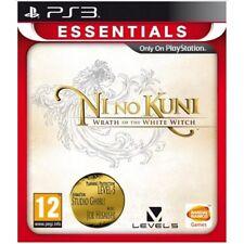 Ni No Kuni IRA de la Bruja Blanca PS3 Juego (Essentials) -! totalmente Nuevo!