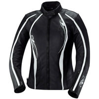 iXS Kiara Womens Leather Motorcycle Jacket With Armor Black