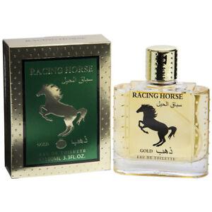 Racing Horse Gold Mens Perfume Real Time 100ml Eau De Toilette Fragrance