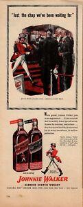 JOHNNIE WALKER RED & BLACK Color Print Ad(ADVERTISEMENT)1946 LIFE MAGAZINE