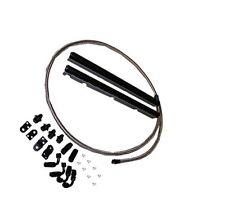 LS1 Fuel Rail Kit -6AN high flow black fuel rails w/ fittings Hose Etc