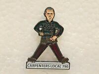 "Carpenters Local Union 790 Pin Back 2010 Vegas 1.25"" Tall"