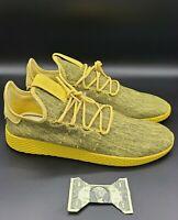 New Adidas Pharell Williams x Tennis Hu 'Yellow' DB2860 Men's Size 11.5