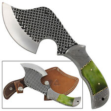 Cress Green Dromedary Bone Full Tang Rockeraway Outdoor Axe