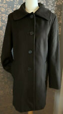 Ladies Brown Wool & Cashmere Genuine Barbour Longline Buttoned Coat UK 12
