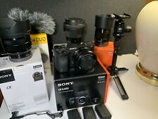 Sony a6400 camera with 16-50mm Kit Lens, +3 More Lenses And More