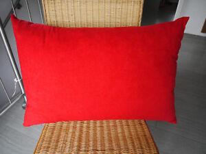 Sofakissen Mikrofaser rot: Rückenpolster, feste Füllung, 50 x 70 cm