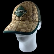 Guinness Beer Baseball Trucker Hat Cap Straw Woven Snapback Official Limited