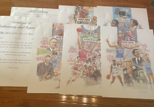 """RARE Complete Set """"50 Years Of The Final Four"""" SIGNED #625/950 28x22""""Lithographs"""