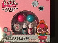 LOL Surprise Color Change Lip Gloss + Surprise Stickers New Girl Gift 5-10