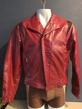 80's Vtge Specials MODE Bikers Red Leather Jacket Size 38 NWOutT