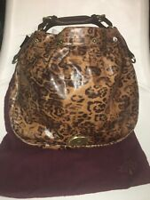 Mulberry Mitzy Shiny Leopard Leather Extra Large Hobo Bag No Strap ~ BNWTNR