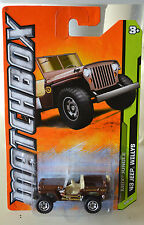 MATCHBOX  '43 JEEP WILLYS MBX JUNGLE 8/10 #108 New In Package !