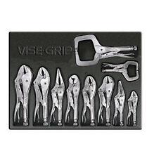 NEW Irwin / Hanson 1078TRAY Vise Grip 10-pc Locking Plier Set Lifetime Warranty