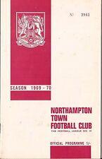 Football Programme - Northampton Town v Lincoln City - Div 4 - 1969