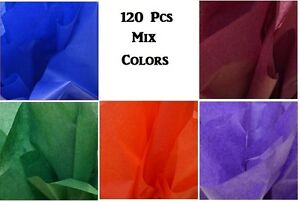 """Tissue Papers Bulk Tissue Papers Sheets Multicolor Gift Wrap Gift Favors 20""""x30"""""""