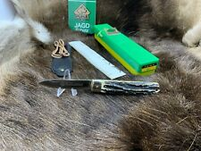1984 Vintage Puma 941 Jagdmesser Knife With Stag Handles Mint Factory Box & Tag