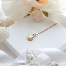 Rose Gold Plated Shell Necklace, Dainty Layering Necklaces, Necklaces For Women