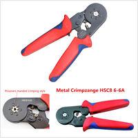 HSC8 6-6A Self Adjusting Ratcheting Crimper Plier Ferrules 0.25-6.0mm² AWG 23-10