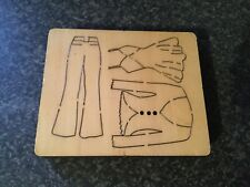 Used 1 inch thick Wooden Die Jumper, Top & Trouser BIG SHOT PRO