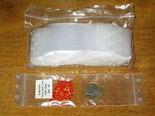 100 Pochettes Pochons Sachets plastique fermeture Zip 60 x 80 mm