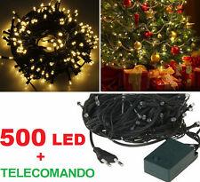 500 LED ORO, luce dorata,albero Natale,cavo verde. Luci Natalizie avorio serie
