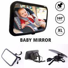 Coche Bebé Retrovisor Ajustable Grande Espejo Asiento Seguridad Vista Trasera