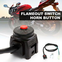 UNIVERSAL MOTORCYCLE HANDLEBAR KILL STOP SWITCH HORN BUTTON QUAD DIRT PIT BIKE