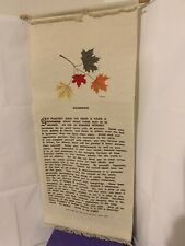 """VINTAGE 70'S DESIDERATA TAPESTRY WALL HANGING 26"""" X 12"""""""