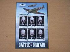 BAHAMAS 2010,BATTLE OF BRITAIN 80C SHEETLET,CAT £13.50,CHURCHILL,EXCELLENT.