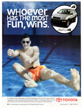 1998 TOYOTA RAV 4 Vintage Original Print AD Swimming pool Canada English Silver