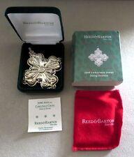 2006 REED & BARTON STERLING SILVER CHRISTMAS ORNAMENT NEW IN ORIGINAL BOX / COA