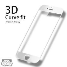 WHITE 3D Curve Edge Tempered Glass Screen Protector for Apple iPhone 6/6S Plus