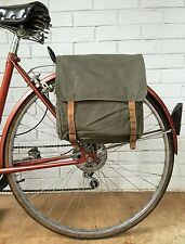 Yugoslavian Backpack Vintage Bicycle Pannier 1970's Green Canvas