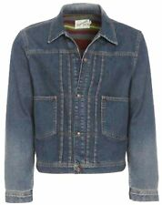 Men's XS Topman Blue Denim Short Jacket Cotton Lining rrp £65 Fast UK Seller
