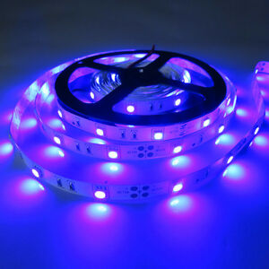5M 16FT 150Leds Blue Flexible SMD 5050 Led Strip Lights DIY Lamps Ribbon 12V