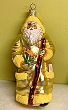 Patricia Breen Santa For Kevin Fall Yellow Susans Blown Glass Glitter 2000 #2096