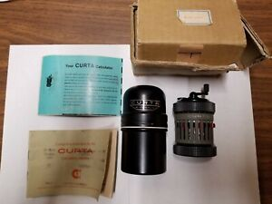Excellent Curta Type II Calculating Machine, #517156, Gray Body, w/case, manuals