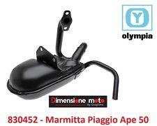 """830452 - Marmitta """"Olympia"""" Tipo Originale per Piaggio Ape 50 FL - FL2 dal 1989"""