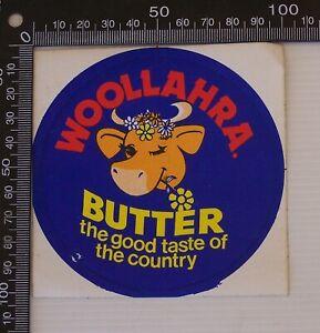VINTAGE WOOLLAHRA BUTTER AUSTRALIA SOUVENIR VINYL PROMO BUMPER STICKER DECAL