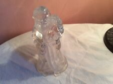 Large 7 Inch Father Christmas Glass/Crystal Figure - Santa Claus Candle Holder