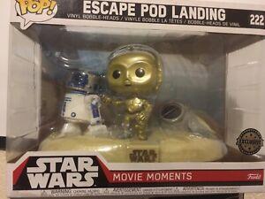 STAR WARS - ESCAPE POD LANDING MOVIE MOMENTS (LARGE FUNKO POP 222) NEW EXCLUSIVE