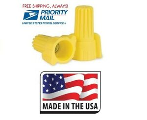 (500) P11 Yellow Winged Nut Screw On Wire Connector Twist-On Tool Made in USA