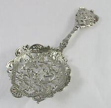 Antique Gorham Sterling Silver Spaulding Cherubs Pierced Bon Bon Server Spoon
