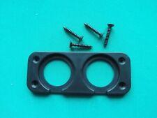 TWIN Cigarette Lighter 12v USB Voltmeter socket plate plinth with screws