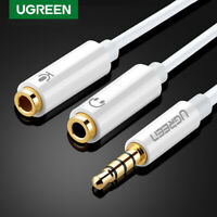 Ugreen 3.5mm Male to 2 Dual 3.5mm Female Headphone Mic Audio Y Splitter Cable