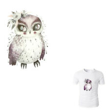 Watercolor Owl Iron On Patches Washable Heat Transfer Sticker Clothes AppliqueJR