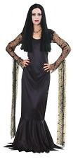 The Addams Family Morticia Costume Long Blk Mermaid Style Costume Dress Lg